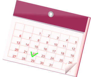 calendrier gîte